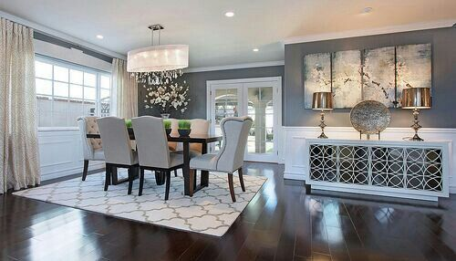 Dining Room Decor. We can create a modern and sleek design for your dining room! #interiordesign #inspiration #diningroomdecor