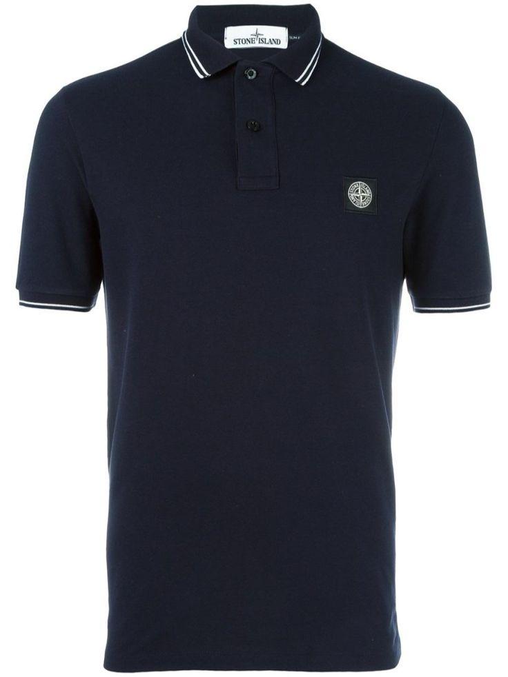 STONE ISLAND Logo Polo Shirt. #stoneisland #cloth #polo shirts
