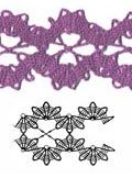 Bruges lace ribbon pattern GOOD DIRECTIONS FOR SEVERAL STITCHES AND TECHNIQUES