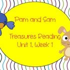 This is a unit to go along with the 1st grade Treasures Reading Unit 1, Week 1 - Pam and Sam.  This unit includes word cards for the vocabulary wor...