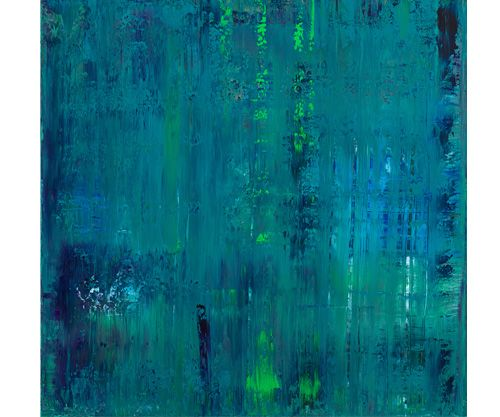 | P | #046 Acrylic on panel with resin (36 x 36 in.) Patricia Gray
