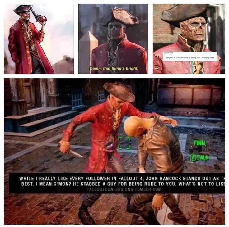 """A Fallout 4 dump that will make you say """"OP has a weird obsession with Hancock"""""""