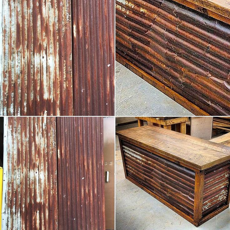 Fresh shipment of rusty barn roof tin just landed  in our Durham Region shop.  This material has just the right amount of patina.  It is great for wall cladding reception desks and even headboards.  We use a clear coat on it to seal it and keep it clean.  #rustytin #rooftin #patina #greyboard #barnboard #barnwood #barn #reclaimed #reclaimedwood #rustic #rusticwood #igers #toronto #hamilton #hamont #tdot #the6ix #durhamregion #durham #pickering #ajax #whitby #oshawa #905 #woodworking…