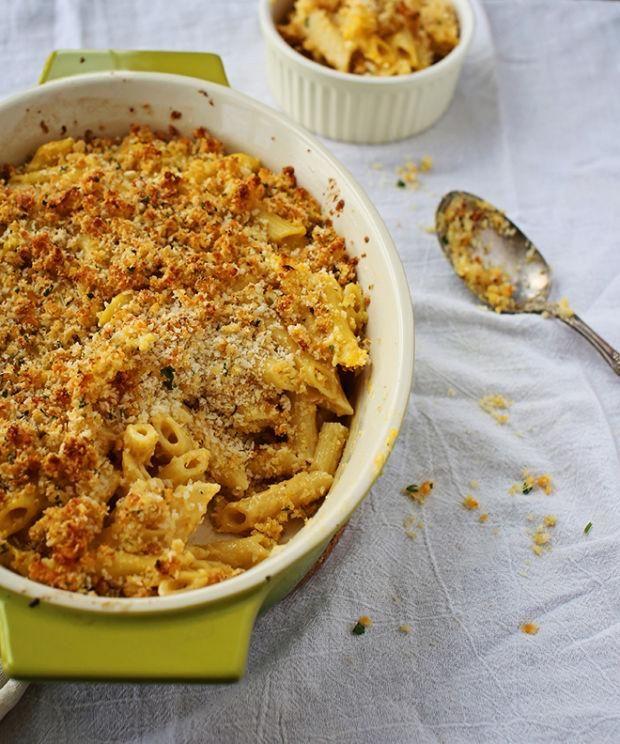 Macaroni au fromage et à la courge musquée/L'un des meilleurs repas classique vite fait… mais revisité!/fraîchement pressé