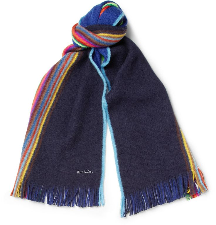Paul Smith Shoes & Accessories - Striped Wool Scarf|MR PORTER