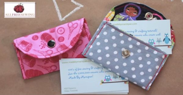 Whether You Make Them As Gifts Or To Keep For Yourself, You'll Love These Snappy Card Wallets!