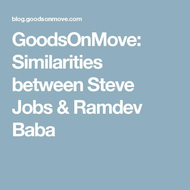GoodsOnMove: Similarities between Steve Jobs & Ramdev Baba