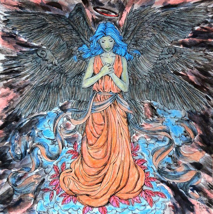 Nicholas F. Chandrawienata - Fantasia (Fallen) Angel Coloured with Derwent AcademyAq., Derwent Metallic Aq.