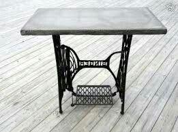 Betong bord med symaskinsunderrede