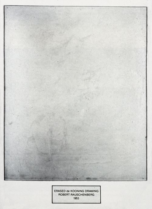 Robert Rauschenberg, Erased de Kooning drawing, 1953 #GISSLER #interiordesign