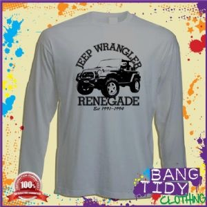Petrol head Jeep Wrangler Renegade Long Sleeve T Shirt    Email a friend    Description