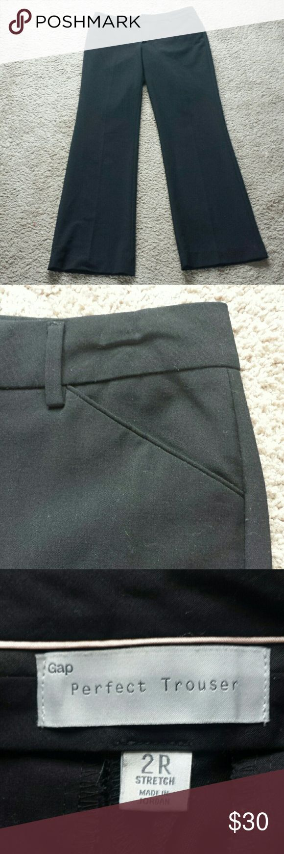 Classic black trousers Black wide leg Gap trousers. A wardrobe classic. Worn several times but in excellent condition. GAP Pants Trousers