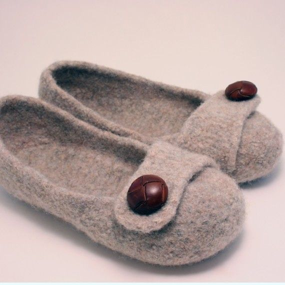 knitted slippers by French Press Knits