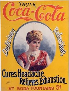 Wikicollecting's Top 10 most expensive Coca-Cola collectibles:  c.1896 cameo paper sign, $105,000