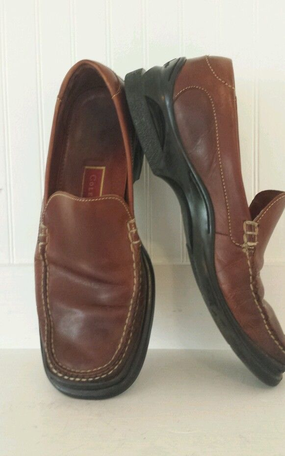 Cole Haan Nike Air Leather Slip On Loafers Comfort Walker