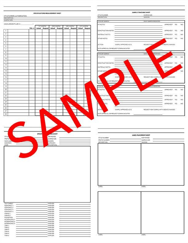 Entire Tech Pack Plus Bonus Cost Calculations Sheet And Pattern