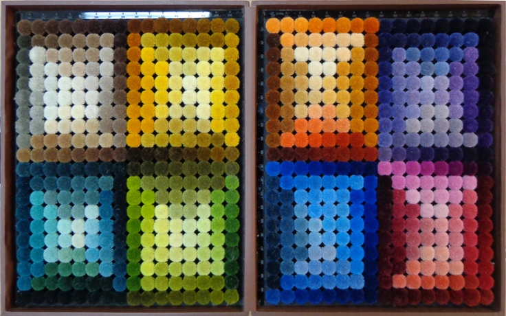 www.surekasgroup.com For contemporary designs handmade rugs, 600 colour shade card box in newzealand wool is available