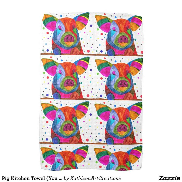 Pig Kitchen Towel (You Can Customize)