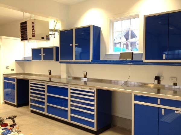 Moduline blue aluminum garage storage cabinets   Garage ...