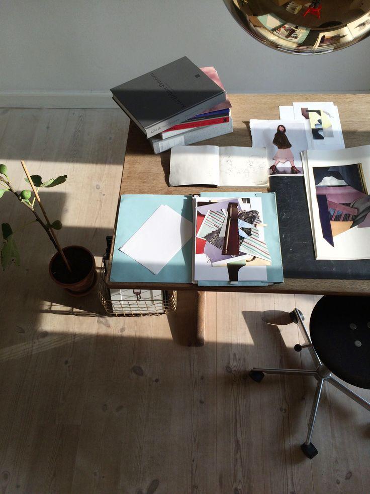 Workplace / collage artist Naja Tolsing