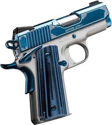 Kimber 1911 Sapphire Ultra II - The Sapphire Ultra II is a striking personal defense pistol that combines dynamic style with a host of performance-enhancing features.