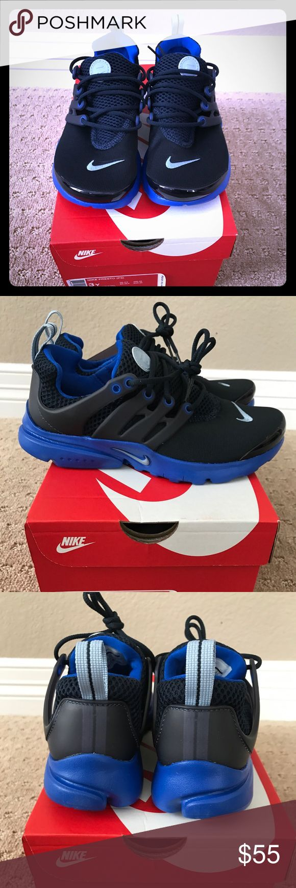 Boys Nike Presto Boys Nike Presto inspired by the 90's  super comfy. Never worn with box. Nike Shoes Sneakers