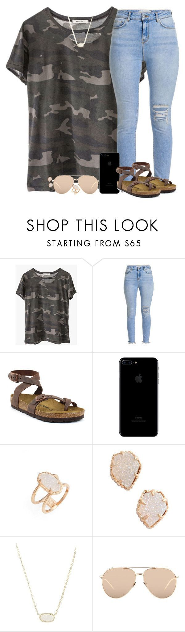 """"" by southernstruttin ❤ liked on Polyvore featuring Ragdoll, Birkenstock, Kendra Scott and Linda Farrow"