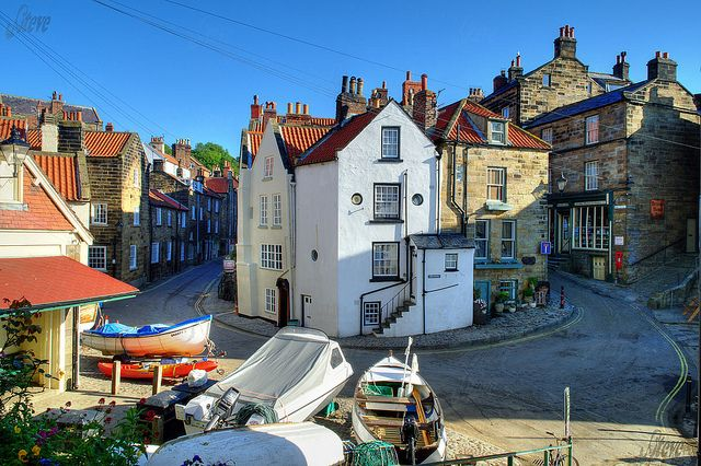 Robin Hoods Bay, England-fav place in the world!!