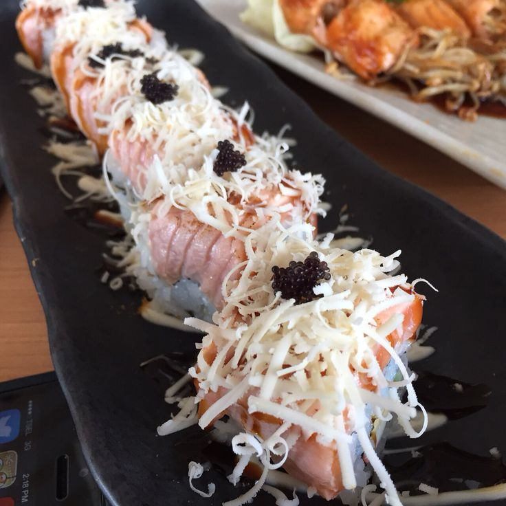 Sushi - cheesy salmon #lunch #dinner