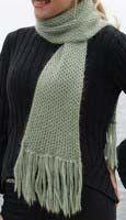 Soft Alpaca Knitted Scarf knitting loom pattern