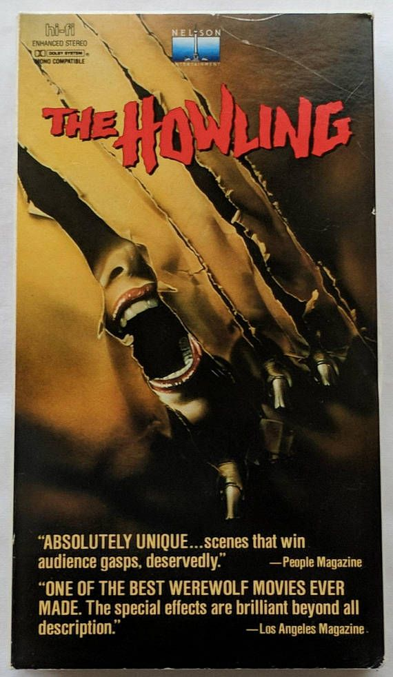 The Howling VHS Horror Werewolf Joe Dante Dee Wallace John Carradine Slim Pickins Creature Monster