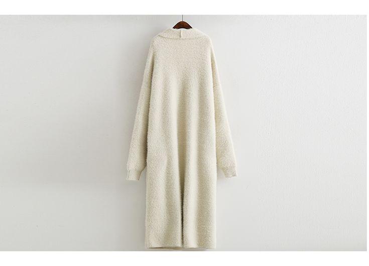 Домашние норки пальто кардиган вязать утолщаются сплошной цвет куртка свободные большой ярдов женские длинный участок рукава летучая мышь осень / зима-Таобао глобальной вокзала