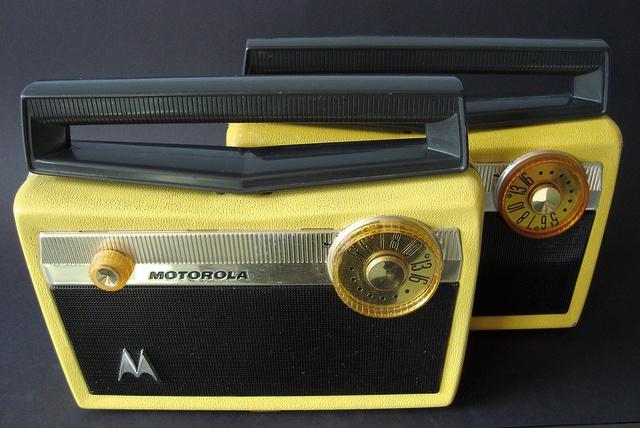 MOTOROLA Portable Tube radios (USA 1957) by MarkAmsterdam, via Flickr