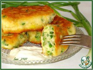 Оладьи на кефире с зеленым луком Buttermilk pancakes with scallions (recipe in Russian)