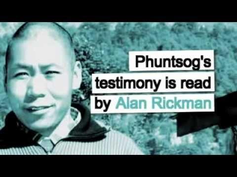 Free Tibet - Torture in Tibet: Alan Rickman reads Phuntsog's testimony