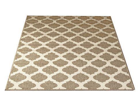 Palma-matto, beige. Etnistyylinen matto, marokkolaiskuviointi. Kovaa kulutusta kestävä matto, pehmeä pinta. Materiaali pölyämätöntä polypropyleeniä.