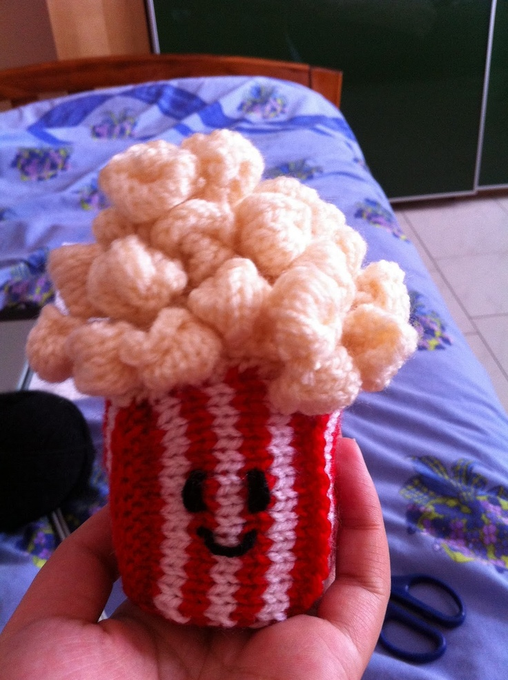 Poppy :)!! Took a few weeks to knit due to having the do each kernel individually!