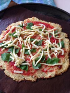 Paleo Thermomix Cauliflower Pizza base recipe