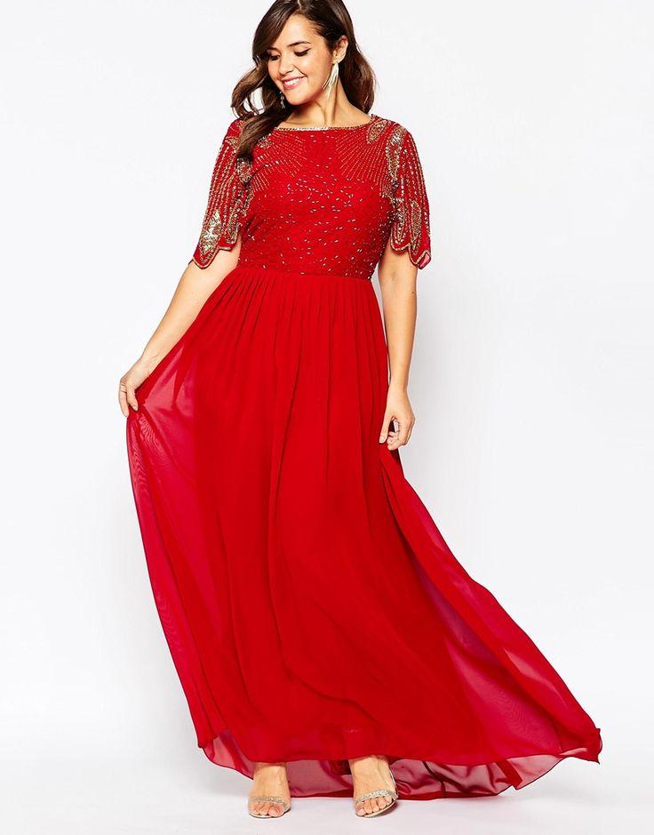 Image 4 Of Virgos Lounge Plus Lena Maxi Dress With