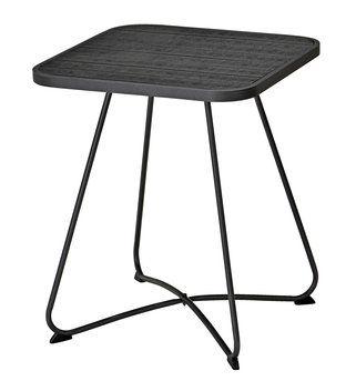 Cafébord IDRE 59×59cm alu/konstträ svart