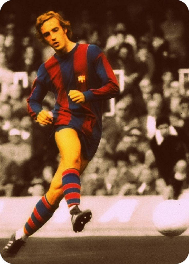 El Holandes Johan Neeskens, Football Club Barcelona.