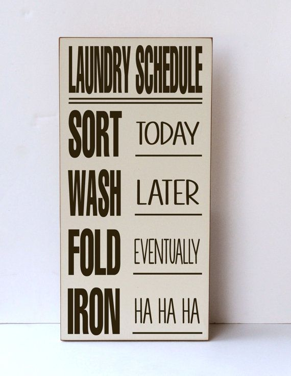 Laundry Sign Laundry Schedule Laundry Room Sign Wood Sign