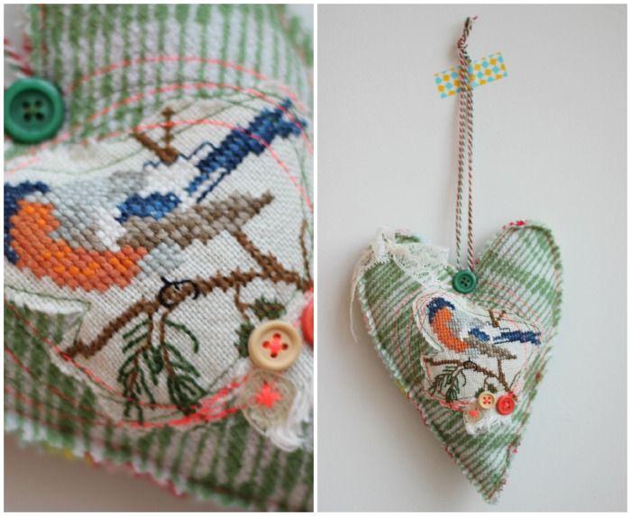♥♥ borduurwerkje, freestyle naaien...