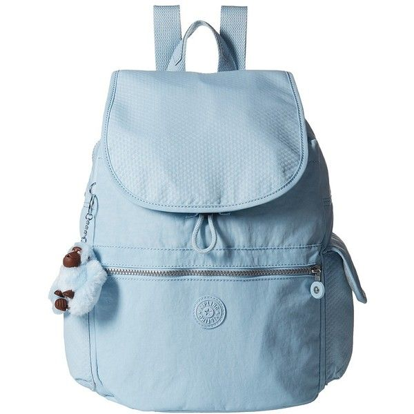 Kipling Ravier Mix (Dot Serenity Combo) Bags (285 BRL) ❤ liked on Polyvore featuring bags, blue polka dot backpack, backpack bags, polka dot bag, blue bag and monkey bag