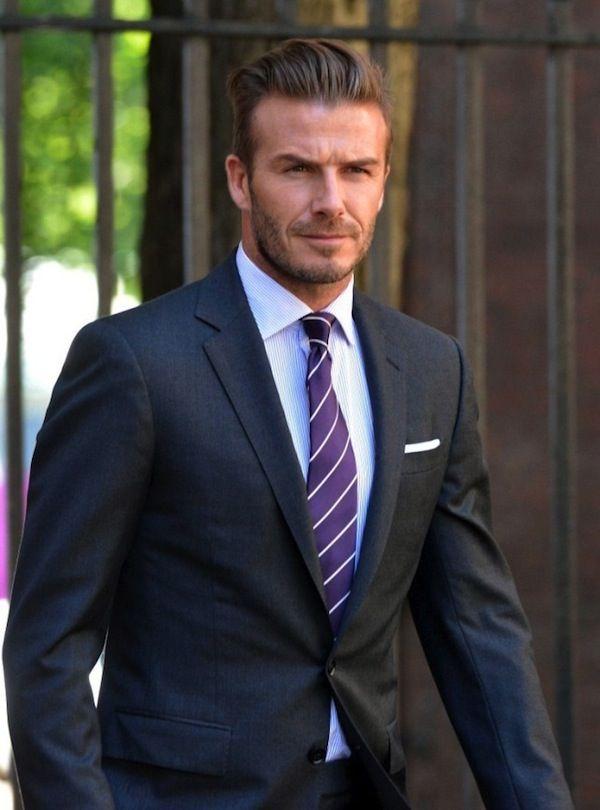 David Beckham Repp Tie