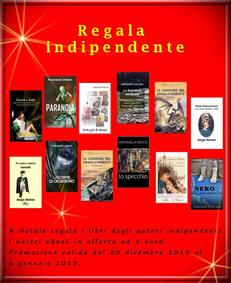 Perché non regalare un libro? E perché non un libro indipendente? dal 20/12 al 06/01 i nostri eBook aspettano di essere regalati, al costo di 1 solo euro. https://www.facebook.com/events/672541549444007/?ref_dashboard_filter=upcoming