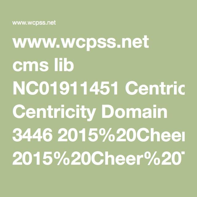 www.wcpss.net cms lib NC01911451 Centricity Domain 3446 2015%20Cheer%20Tryout%20Packet.pdf