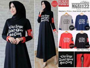 Baju Gamis Muslim Lengkap: grosir busana wanita MGS1122