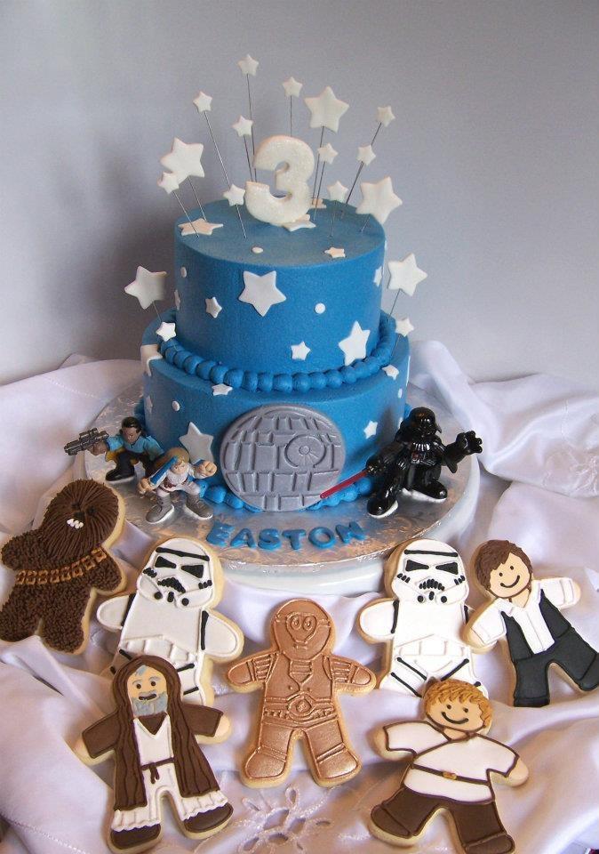 star wars cake & cookies