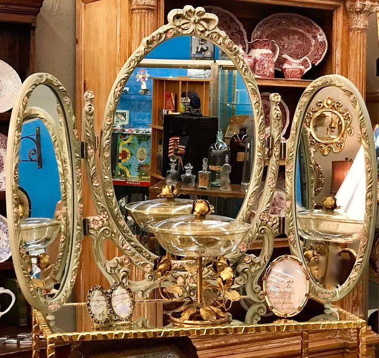 Italian Tri Fold Mirror $119 Barbara Falk Designs Antiques